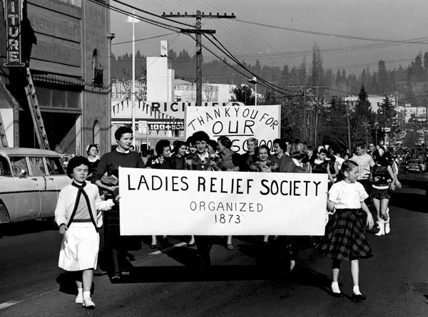 Grass Valley Ladies Relief Society Donation Day 1958